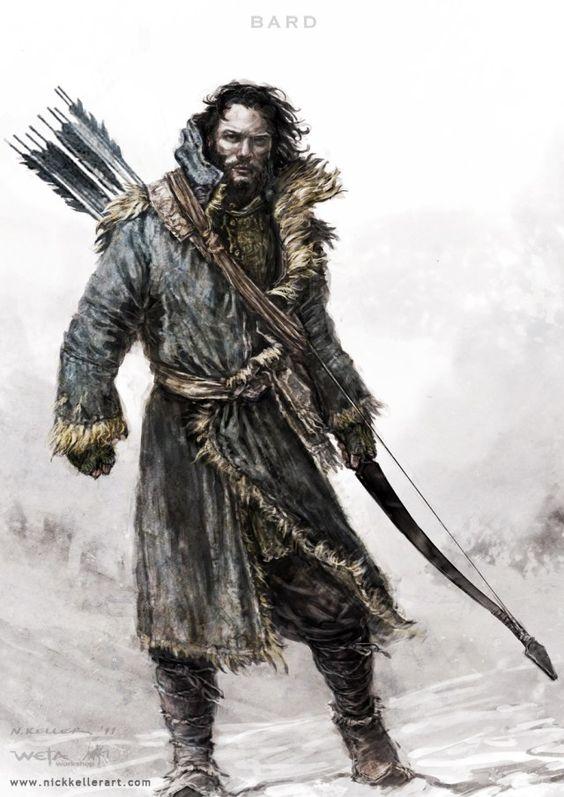 The Hobbit. TDOS. Concept Art. El hobbit. La desolación de Smaug. Bardo. Bocetos. Tolkien