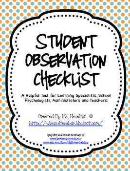special needs observation Observation, screening, and  screening, and assessment of young children and the identification of special needs  the compsat keys to reflection and inquiry.