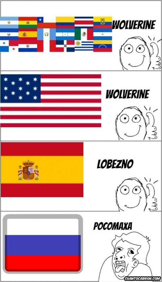Wolverine en Diferentes Idiomas        Gracias a http://www.cuantocabron.com/   Si quieres leer la noticia completa visita: http://www.estoy-aburrido.com/wolverine-en-diferentes-idiomas/