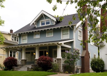 Getting closer two story craftsman with a big porch i Two story craftsman bungalow