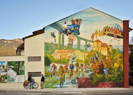 CITECREATION » Le mur peint « Le Tour à Bellegarde » – Bellegarde-sur-Valserine – a été inauguré vendredi 25 novembre 2011