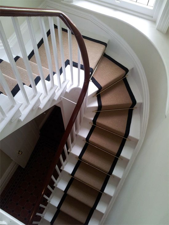 Stair Runner With Black Edging Like The Simplicity And