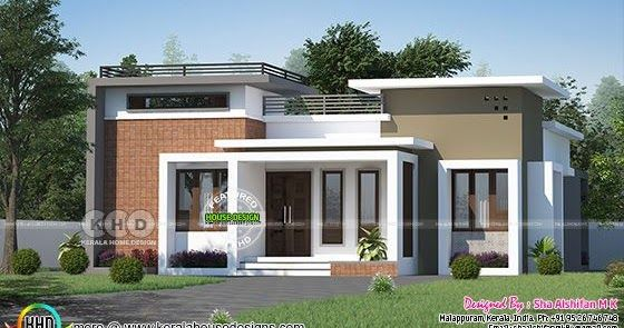 1154 Sq Ft 3 Bhk One Floor House Plan Kerala House Design Small House Design Exterior House Roof Design