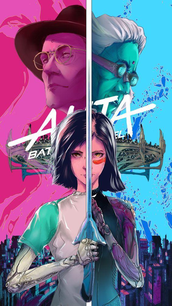 "Alita Battle Angel James Cameron Movie Poster Art Print 13x20/"" 24x36/"" 27x40/"""