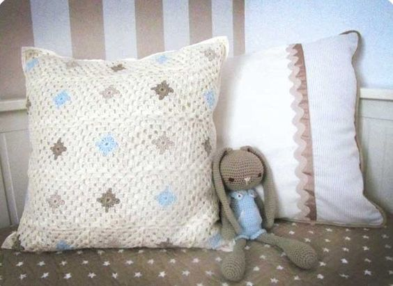 Cojín de Crochet Granny Squares Modelo 2  #DIY