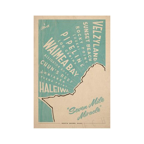 Everything Is Jake! North Shore Oahu Surf Map - Roberta Oaks, Hawaii
