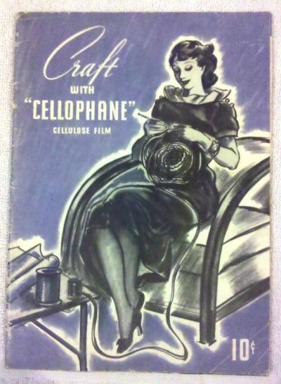Check out this vintage crochet book that's about how to craft with cellophane!