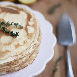 Lemon and Mascarpone Crepe Cake - a light desert for the summer months!