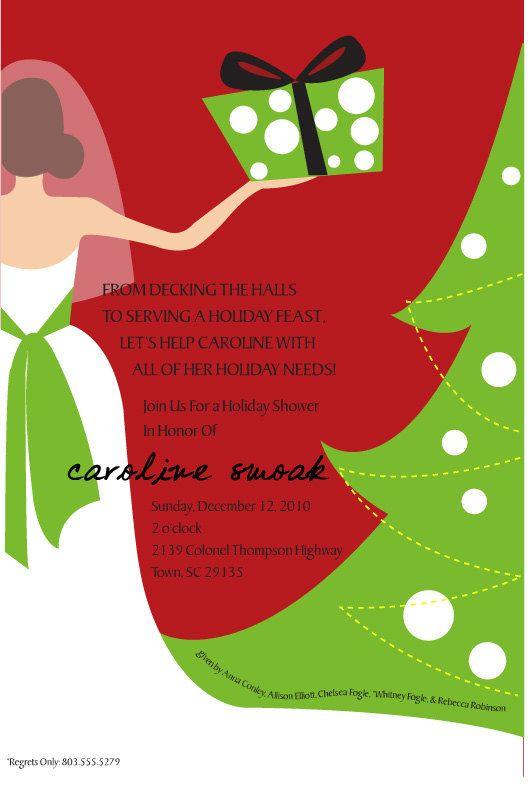 Christmas Bridal Shower Invitation Christmas Wedding Shower – Christmas Wedding Shower Invitations