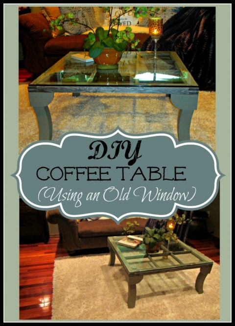 cheap coffee table made from window