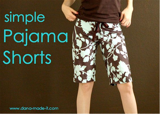 Simple Pajama Shorts by Dana made it