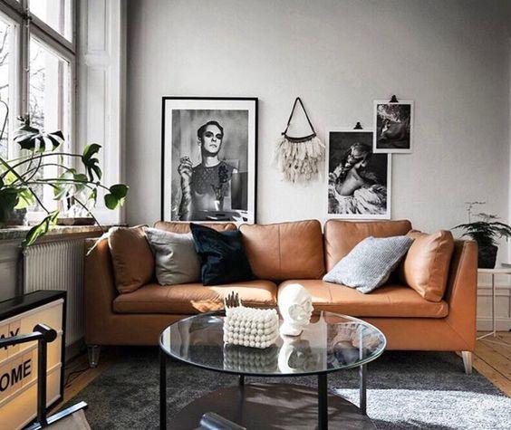 Sofa da tphcm nội thất trang trí phòng khách đẹp
