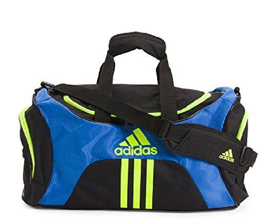 Adidas Scorer Medium Duffel Black Blue Yellow Bags Laptop Bag