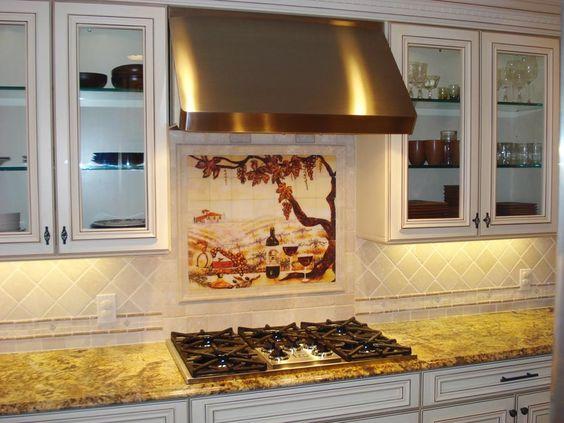 The Vineyard Kitchen Backsplash Tile Mural