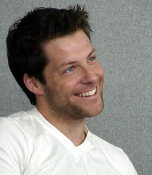 Jamie Bamber - yes, the eyes have it, but look at that smile!