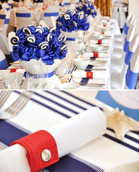 Nautical table centerpieces creative upside down glass