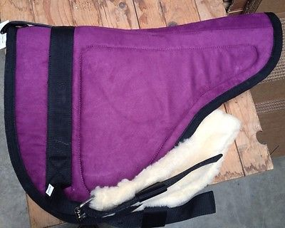 Suede-Bareback-saddle-Pad-Horse-Western-Fucshia-Purple-Training-New-blanket