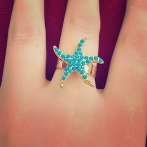 Pink Pineapple jewelry // starfish // ring