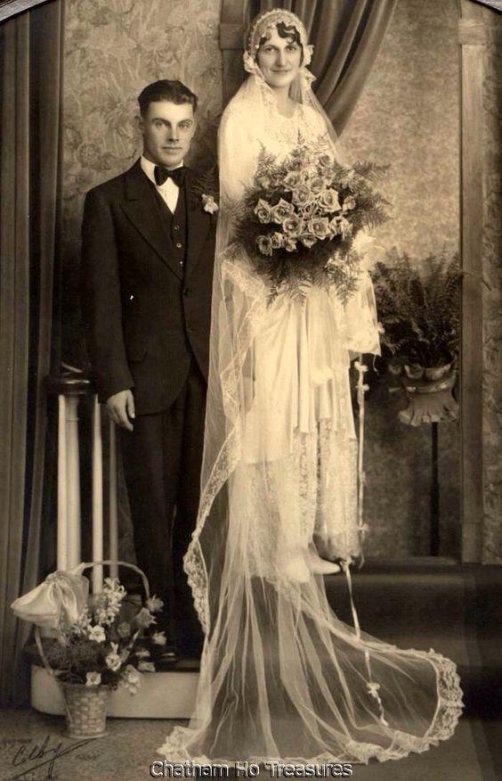 1920s Vintage Wedding Photo: