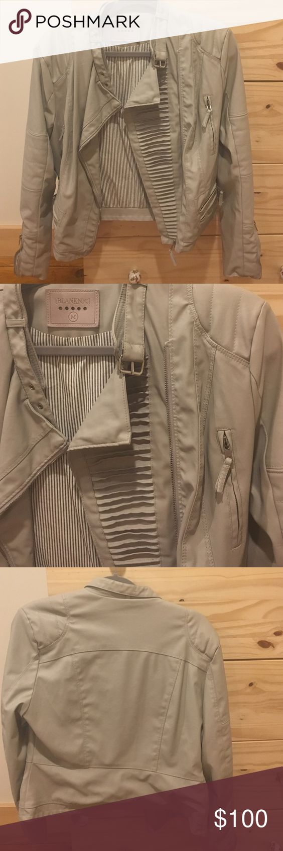 Blanknyc Leather coat Beautiful neutral leather jacket bought from South Moon Under, never been worn. Blank NYC Jackets & Coats