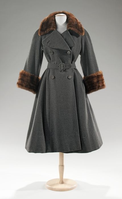 Norman Norell coats ca. 1955 via The Costume Institute of the Metropolitan Museum of Art