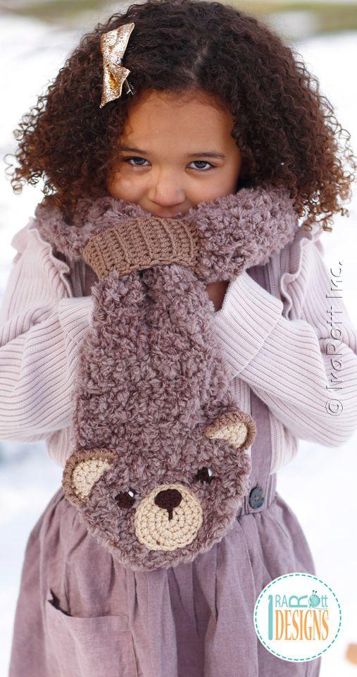 JUST RELEASED! Dream Cloud Teddy Bear Scarf Crochet Pattern by IraRott