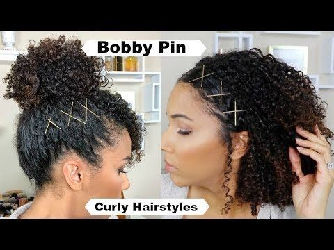 Spice Up Curly Hairstyles With Bobby Pins Youtube Curly Hair Styles Hair Styles Curly