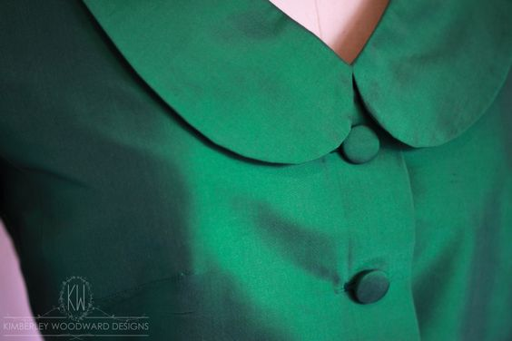   BEHIND THE SEAMS   Finished working on this beautiful pure silk tailor made Mother of the Bride outfit today – one of the most luxurious emerald greens I have ever worked with! xx KIMBERLEY WOODWARD DESIGNS