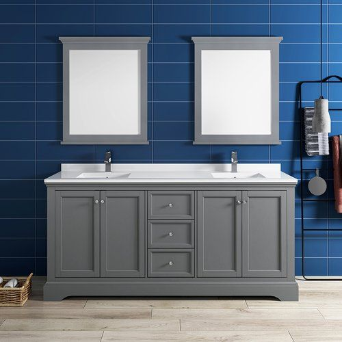 Windsor 72 Gray Textured Traditional Double Sink Bathroom Vanity With Mirrors Walmart Com Bathroom Sink Vanity Double Sink Bathroom Vanity Double Sink Bathroom