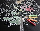 Chalk-By-Number Tree Chalkboard. $65.00, via Etsy.