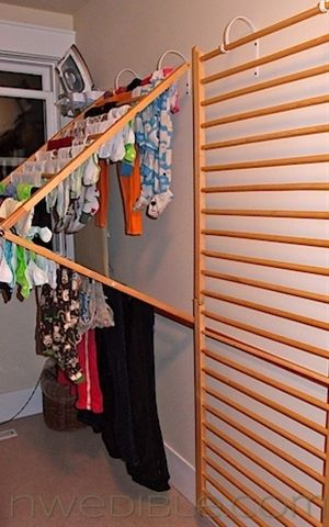 Brilliant indoor clothes drying rack. I already have lines in the basement but I like this.