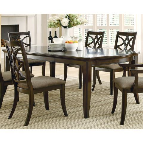 Meredith Dining Table By Coaster Fine Furniture Espresso Dining