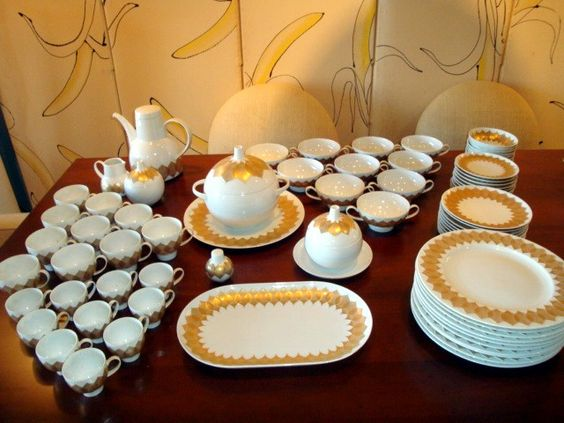 bjorn winblad rosenthal studio line lotus pattern china modernism