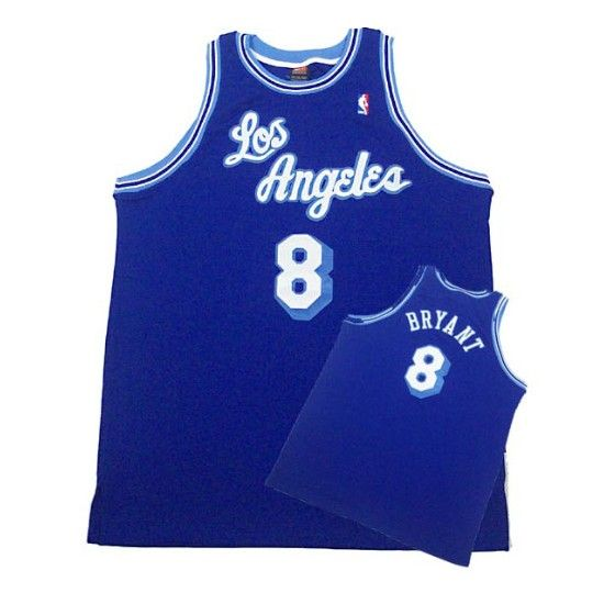 kobe bryant 8 jersey los angeles lakers authentic throwback blue ...