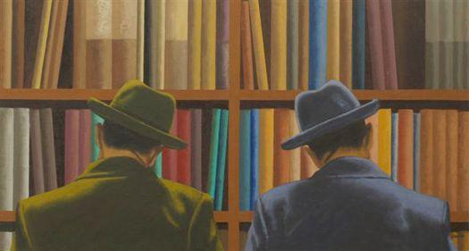 Biblioteca by Jordi Barnadas, Oil on Wood (Library)