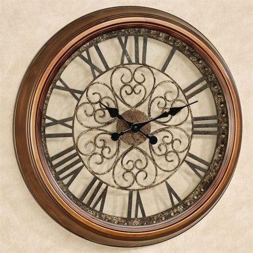 Cassia Antique Bronze Metal Wall Clock In 2020 Clock Metal Wall Clock Wall Clock