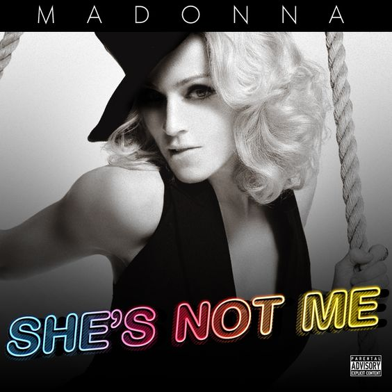 Madonna – She's Not Me (single cover art)