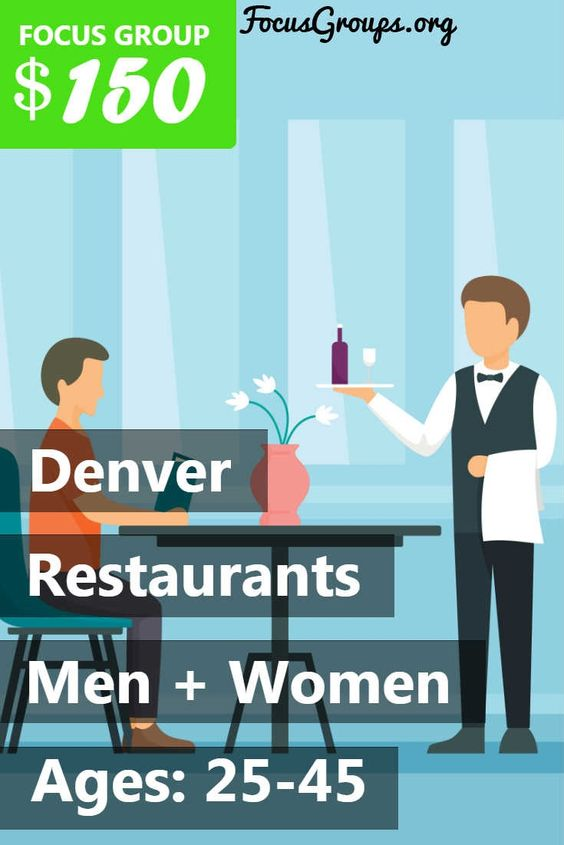 Focus Group On Restaurants In Denver With Images Focus Group