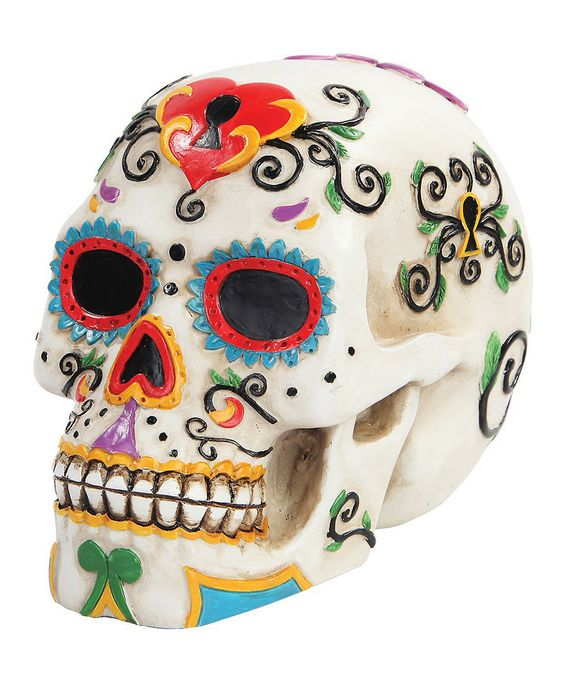 Look at this #zulilyfind! White Day of the Dead Skull by Pacific Trading #zulilyfinds: