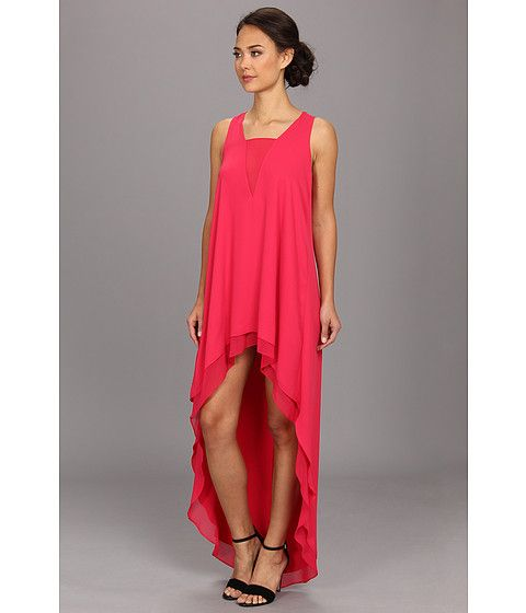 BCBGMAXAZRIA Ivanna High-Low Gown Pink Raspberry