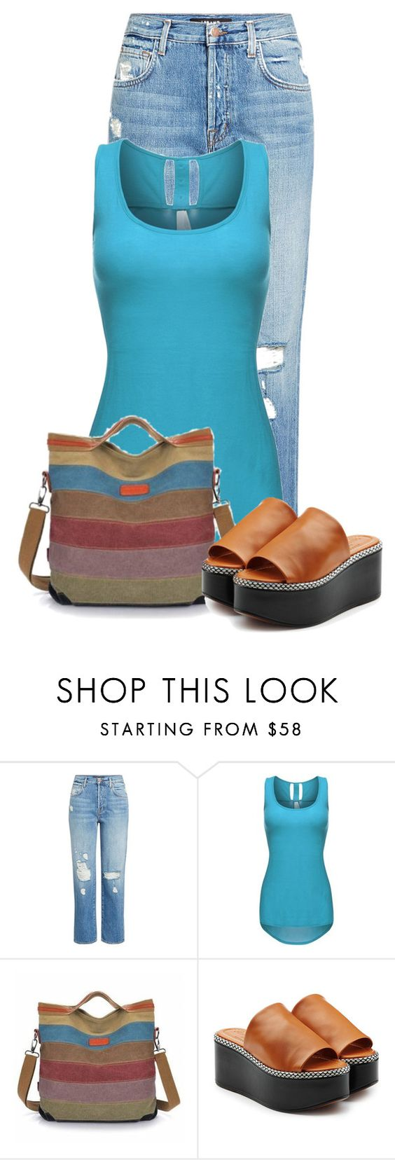 """""""Untitled #21590"""" by nanette-253 ❤ liked on Polyvore featuring J Brand and Robert Clergerie"""