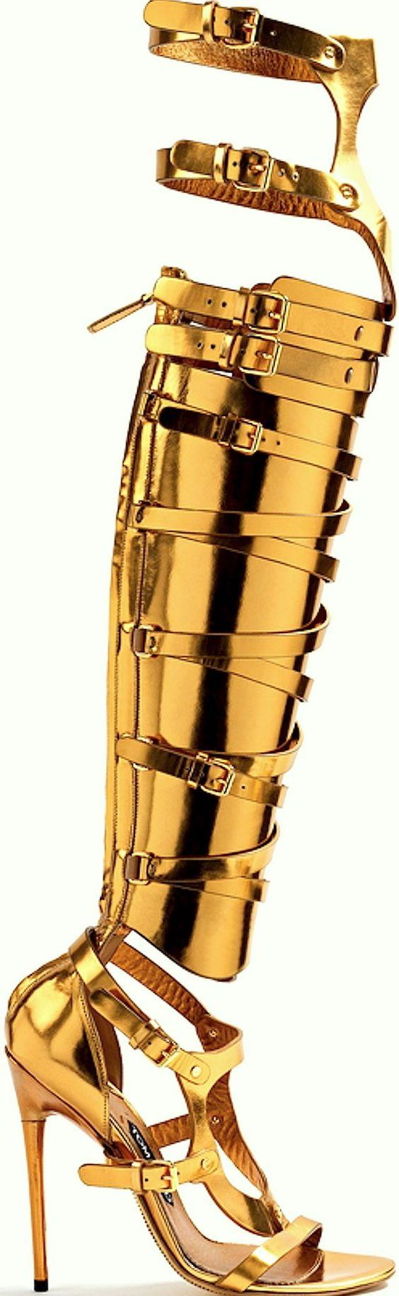 Gold Gladiator Heels Cheap