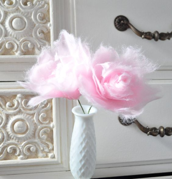These are way cool & absolutely beautiful! Cotton candy flowers by AlternativeBlooms.etsy.com.