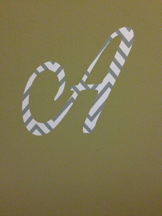 7 inch wall letter $3