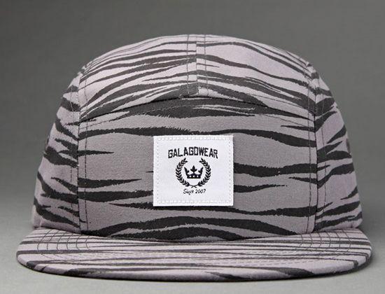 Zebra 5-Panel Hat by GALAGOWEAR