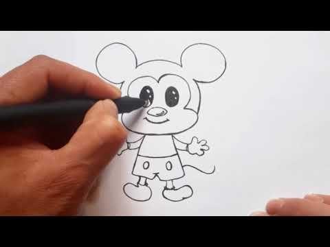 كيفية رسم ميكي ماوس بطريقة سهلة رسم سهل تعلم الرسم تعليم الرسم للأطفال رسومات بالرصاص سهلة Youtube Art Fictional Characters Character