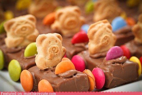 teddy bear chocolate cars