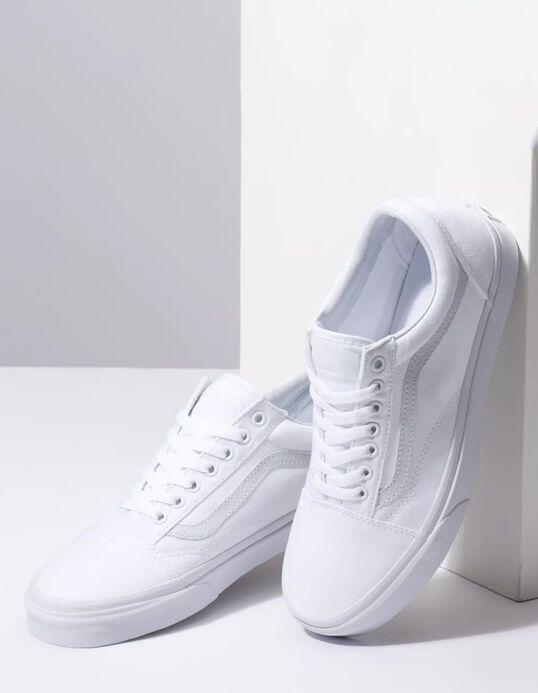 VANS Canvas Old Skool True White Shoes