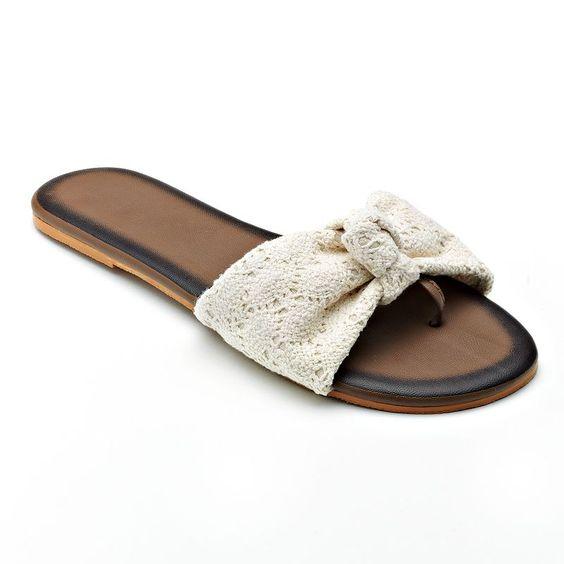 Isotoner Bow Flip-Flops - Women | Bedroom Slippers ...