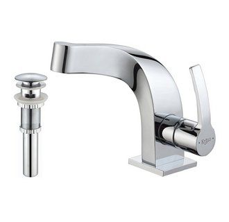 View the Kraus KEF-15101-PU11 Typhon Single Hole Bathroom Faucet - Metal Pop-Up Drain Included at FaucetDirect.com.